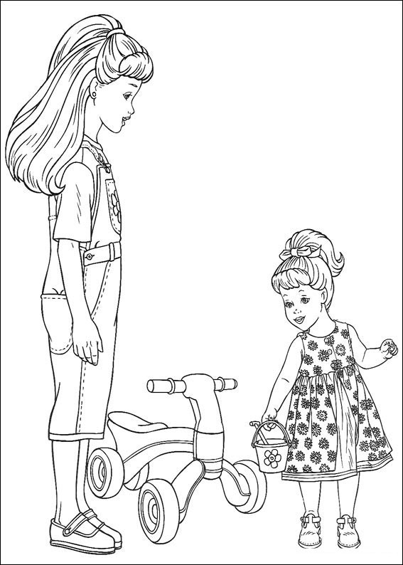Barbie Coloring Pages on Toy Cars And Trucks