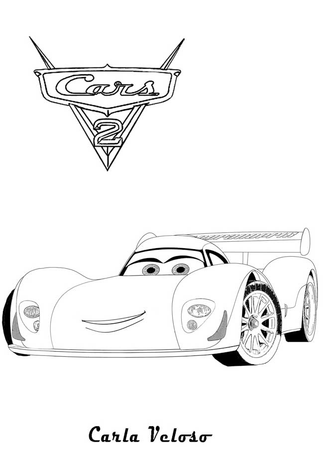 Carla Cars 2 coloring pages