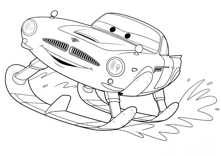 Cars 2  Coloring Page