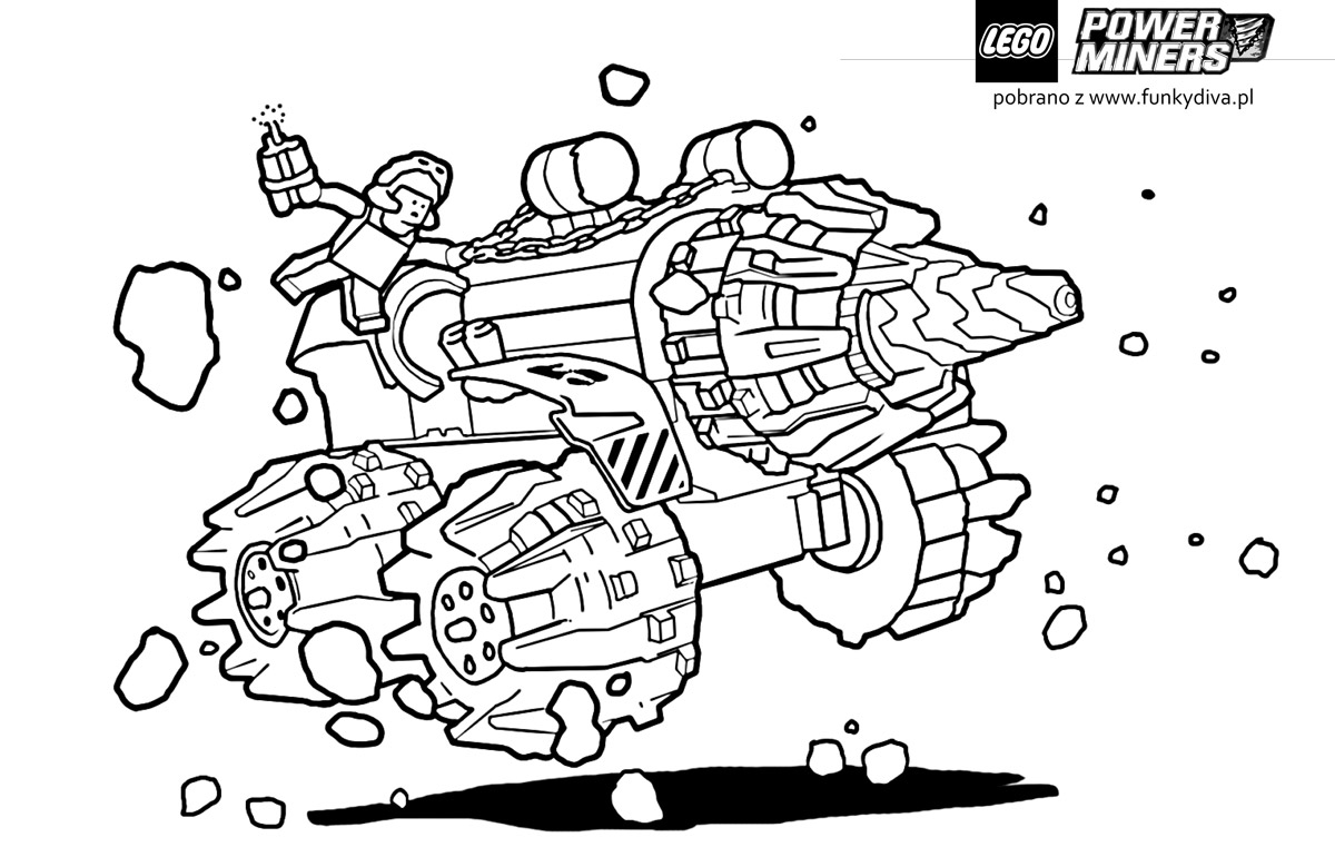 free coloring pages of city lego truck