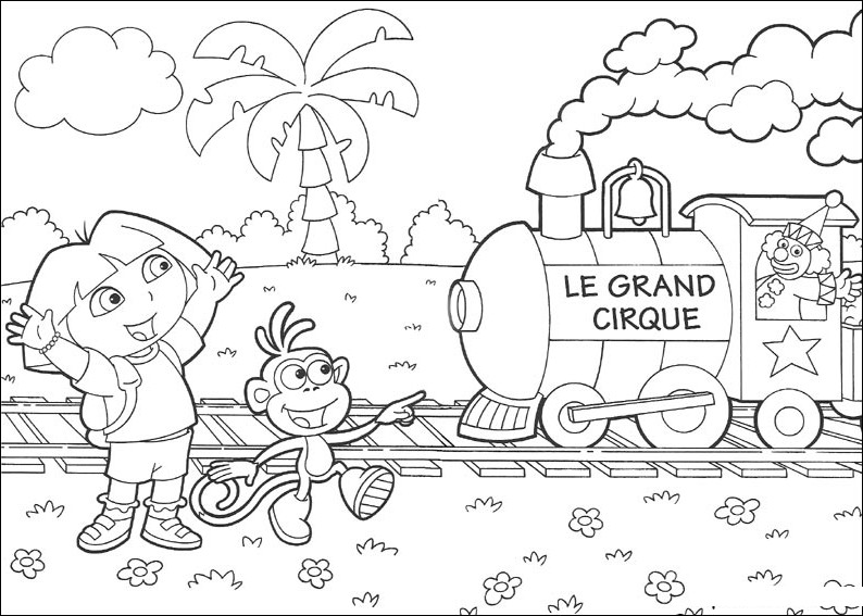 Dora The Explorer Coloring Pages Wallpapers Photos HQ For Kids