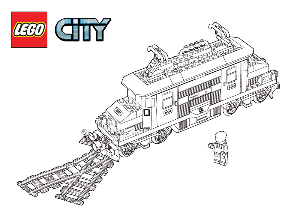 Free Coloring Pages Of Harry Potter Lego Train