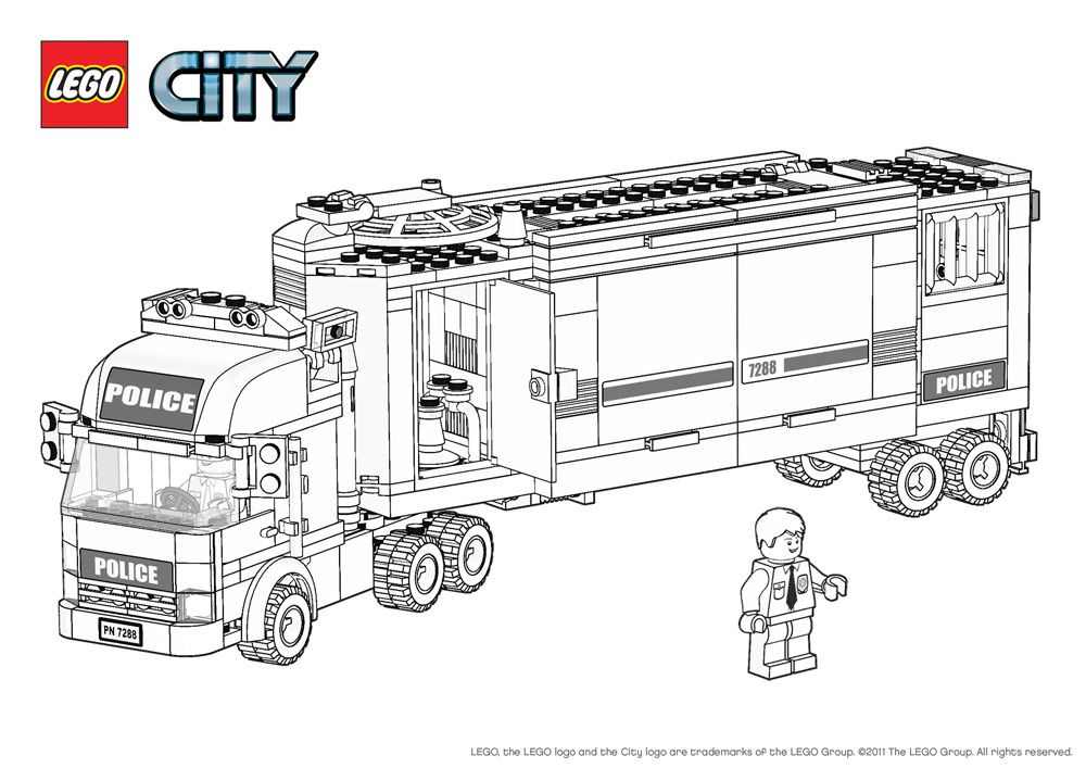 lego forest police coloring pages - lego forest police colouring pages