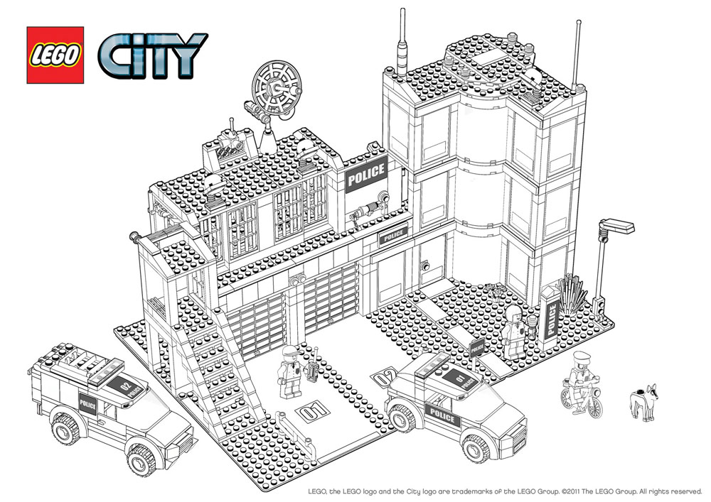 Lego Coloring Pages Coloring Pages Wallpapers Photos Lego City Printable Coloring Pages