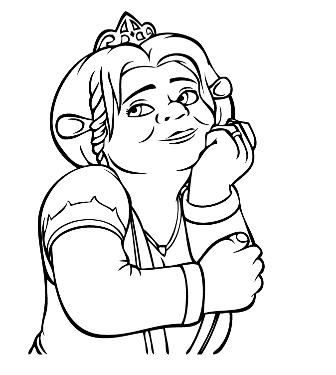 coloring pages shrek - photo#5