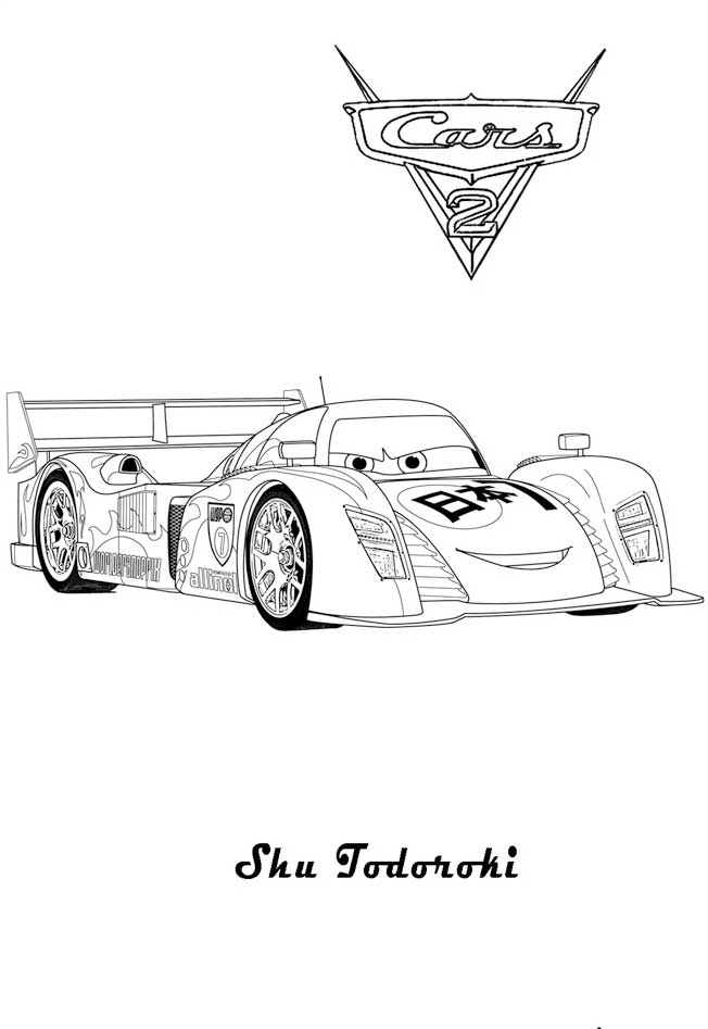Cars 2 Coloring Pages Shu Coloring Pages
