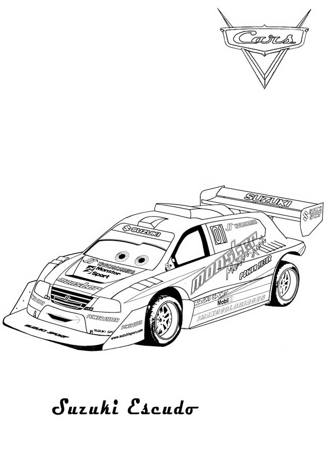 Suzuki Cars 2 coloring Pages