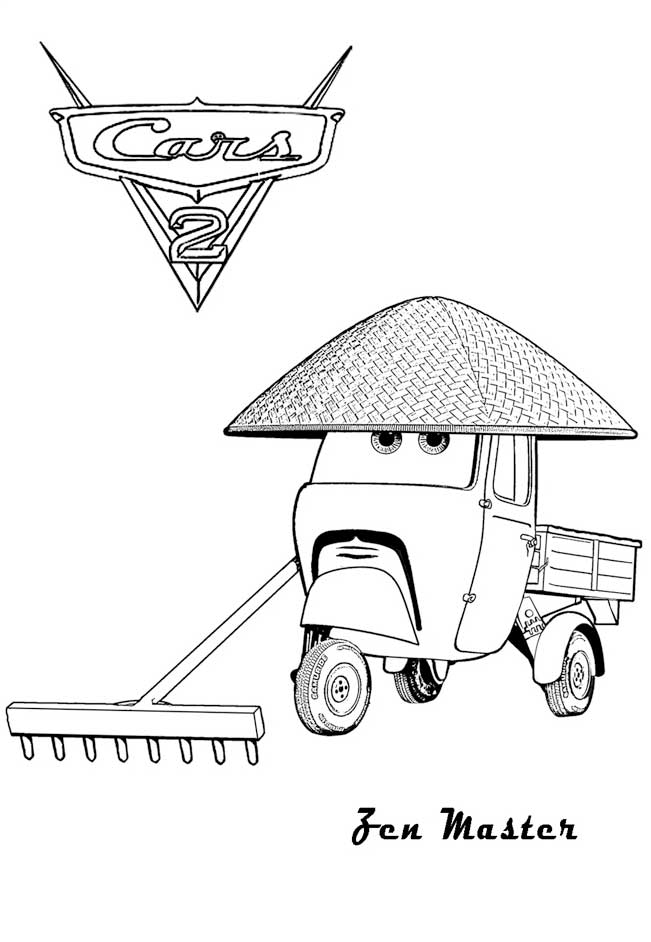 Cars 2 coloring Pages - Zen Master