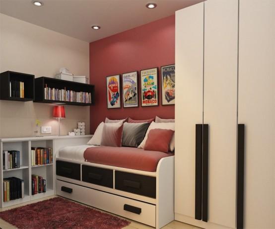 nowoczesny pok j dla nastolatk w fd. Black Bedroom Furniture Sets. Home Design Ideas