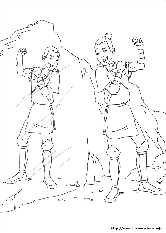 Avatar the last airbender coloring pages coloring for Avatar the last airbender coloring pages