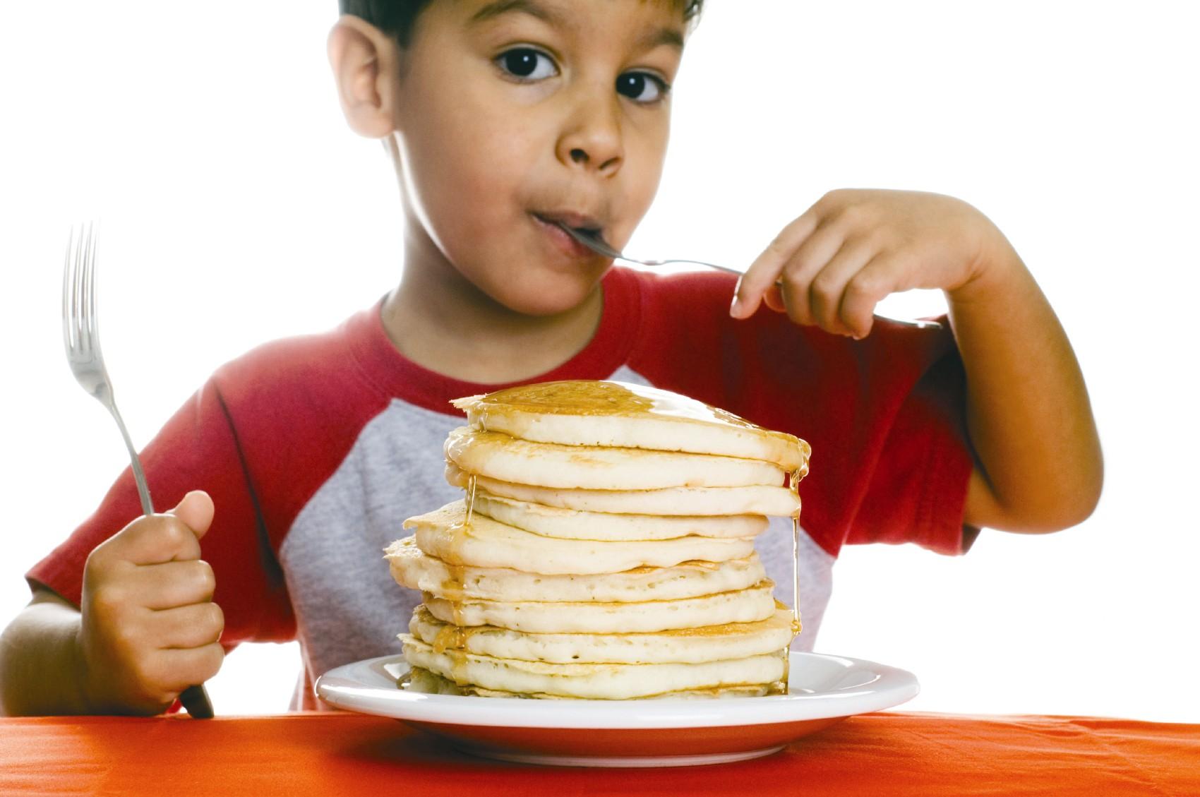 Pin Kid Eating Pancakes Cake on Pinterest