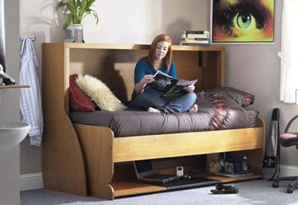 Dobre rozwiązanie do małego pokoju, tzw. 2 in 1. Łóżko i biurko