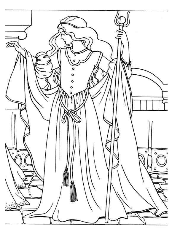 Princess Coloring Pages 1