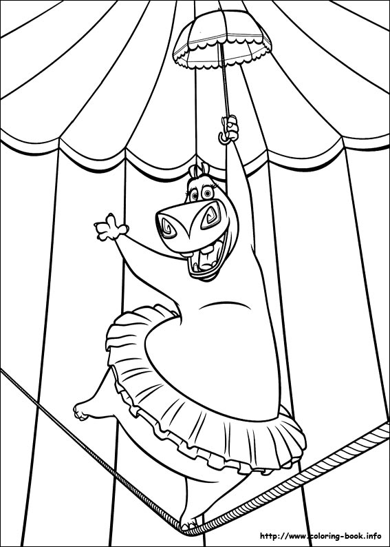 Free coloring pages of king julien madagascar for Madagascar coloring pages printable