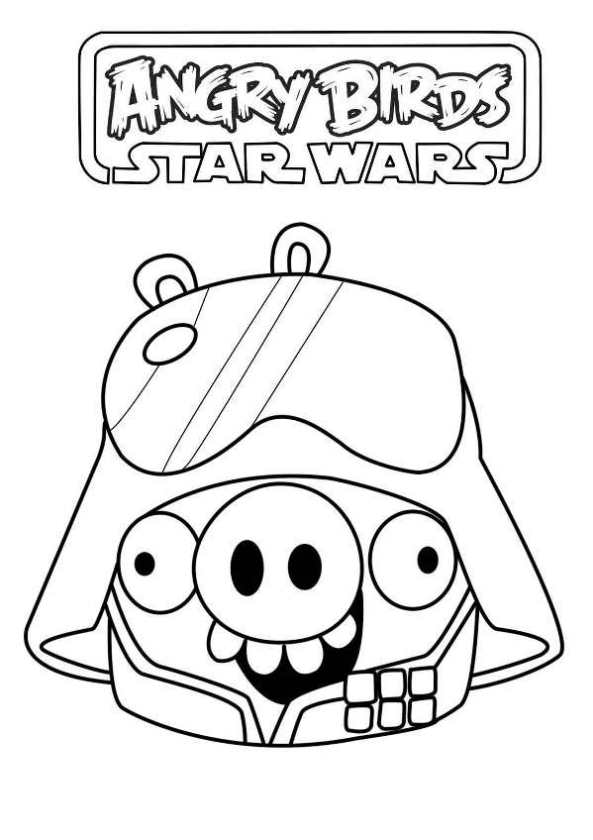 Angry Birds Star Wars Pigs Coloring Pages Traffic Club