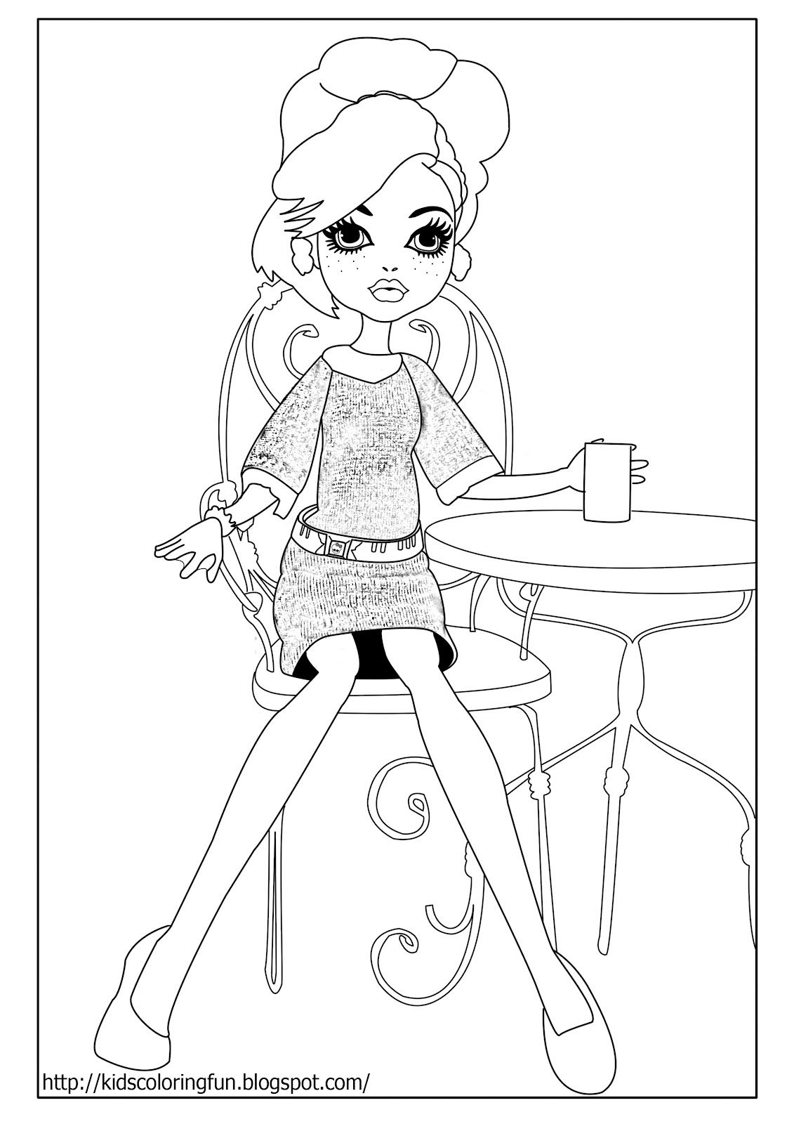 monster high ghoulia ghoulia coloring lagoona printable monster high title=