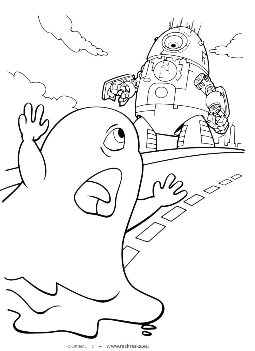 aliens coloring pages cute little character from monster vs