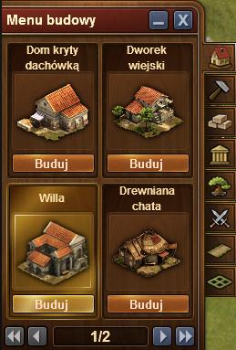 menu budowy