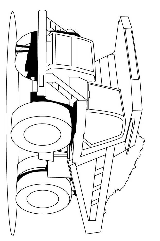 cargo truck excavator dump truck tractor tractor coloring title=