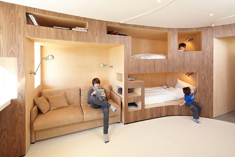 Small Bedroom Design with Bunk Bed 800 x 533