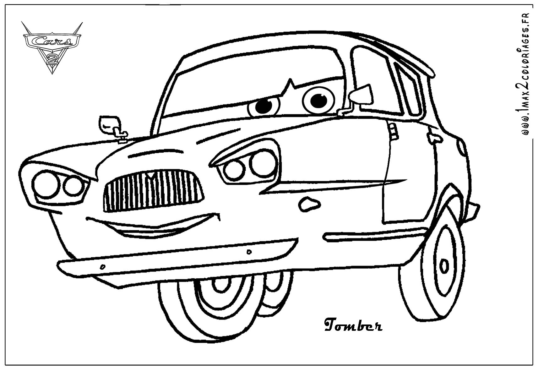Sally Cars 2 Coloring Pages
